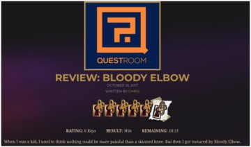 TOP Escape Room game in los Angeles: BLOODY ELBOW by QUEST ROOM