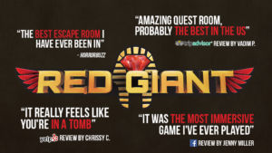 Red Giant Immersive Escape Room Reviews