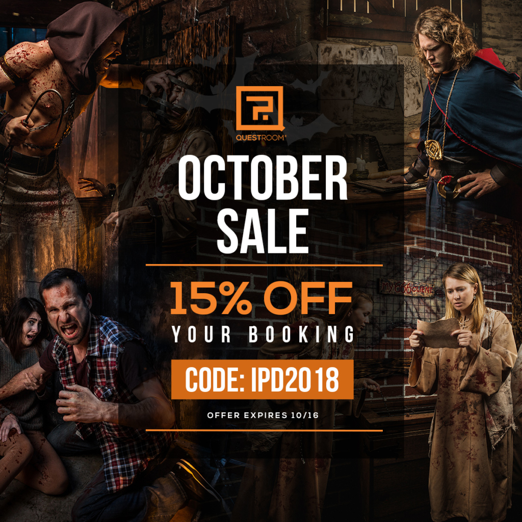 Quest Room Escape Room October 2018 Sale